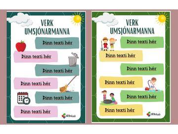Umsjónarmenn - Verkslýsing - Þinn texti