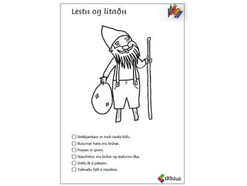 Lestu og litaðu -  Jólasveinar
