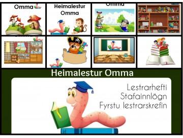 ALLAR BÆKURNAR - Heimalestur Omma 1 - 12