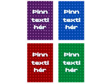 Kassamerkingar - Doppur  -  ÞInn texti