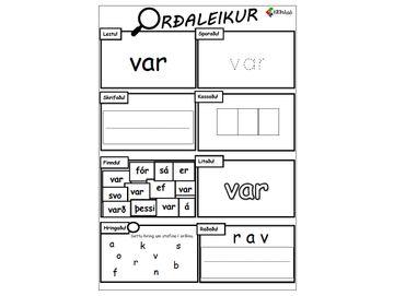Orðaleikur - VAR