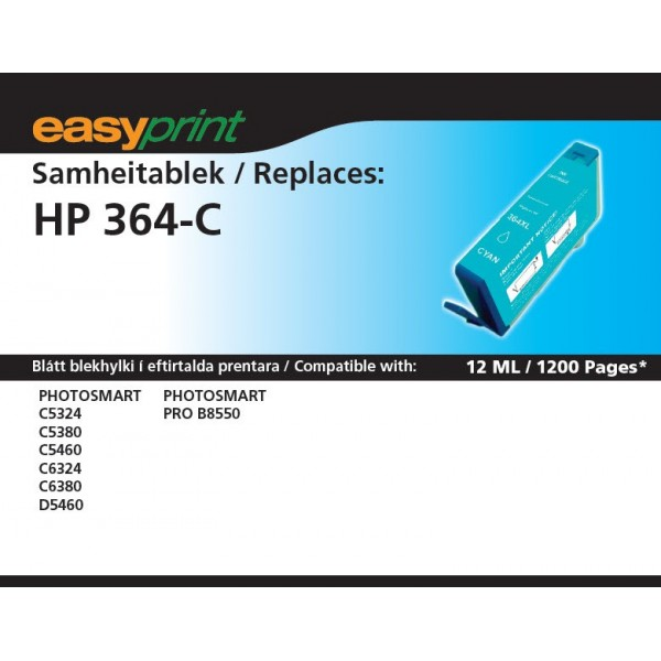 EasyPrint HP 364 Cyan XL