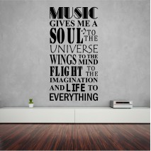Music gives me a soul.