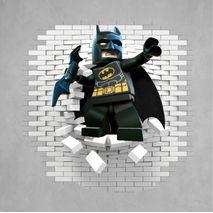 Batman legó 2 hola í vegg