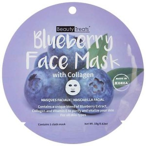 Beauty Treats Face Mask with collagen Blueberry