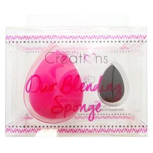 Beauty Creations double  blending sponge svartur og lítill bleikur