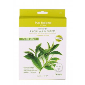 CALA PURE RADIANCE FACIAL MASK SHEETS - GREEN TEA