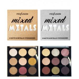 Mixed Metals 9 Matte & Metallic Eyeshadows Silver