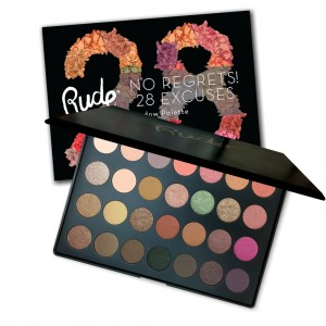RUDE No Regrets! 28 Excuses Eyeshadow Palette - Virgo