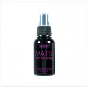 Matte setting spray