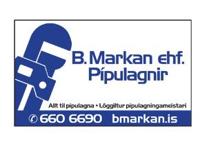 B.Markan ehf Spjald 6x10 cm