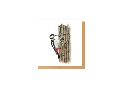 Charlotte Nicolin - Tækifæriskort Fugl Woody