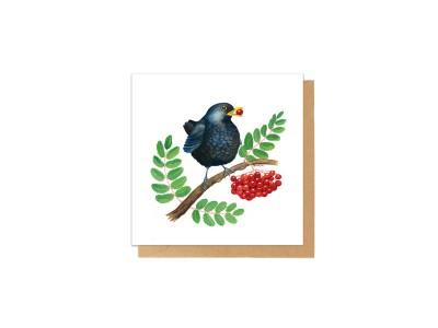 Charlotte Nicolin - Tækifæriskort Fugl Blackie