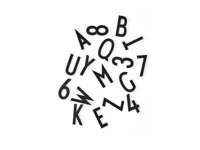 Design Letters - Stafir f/ Skilaboðatöflu Stórir Svartir