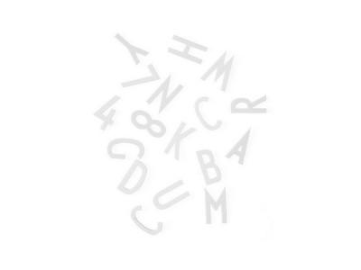 Design Letters - Stafir f/ Skilaboðatöflu Stórir Hvítir
