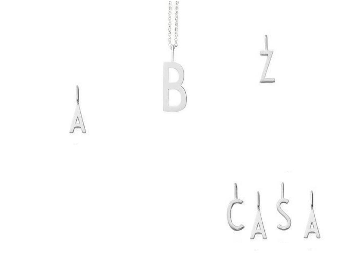 Design Letters - Bókstafur Skart 16 mm Silfur A-Z