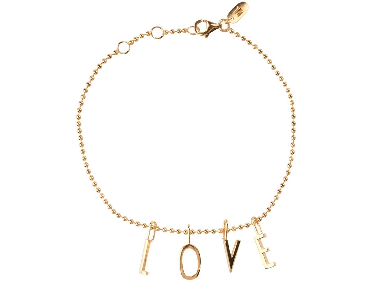 Design Letters - L-O-V-E Armband Gyllt