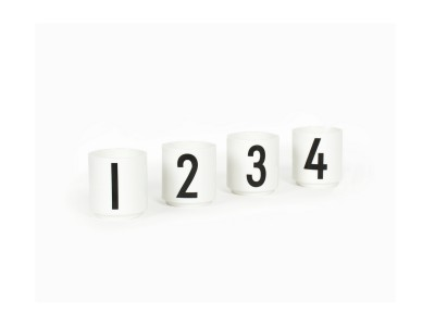 Design Letters - Espresso Bollar White 4stk