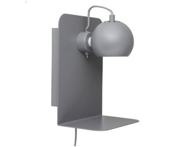 Frandsen - Ball Veggljós með USB Grey Matt