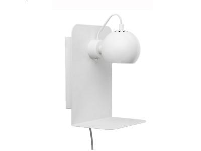 Frandsen - Ball Veggljós með USB H:30cm White Matt