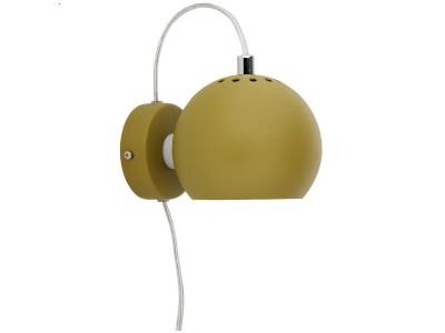 Frandsen - Ball Veggljós Ø:12cm Olive Green Matt