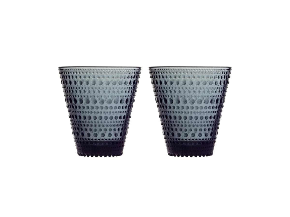 Iittala - Kastehelmi Glös 30cl Dark Grey 2stk