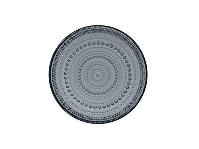 Iittala - Kastehelmi Eftirréttadiskur 17cm Dark Grey
