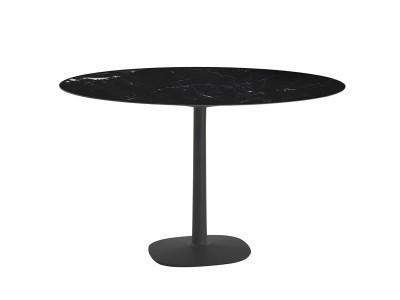 Kartell - Multiplo Borð Ø: 118cm Black Marble