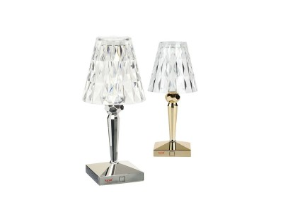 Kartell - Battery Lampi Chrome & Gold