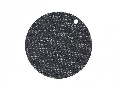 OYOY - Dot Diskamotta Dark Grey 2stk