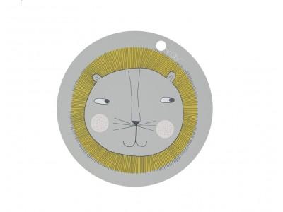OYOY - Diskamotta Lion Light Grey