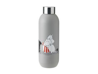 Stelton x Moomin - Keep It Cool Vatnsflaska 75cl Light Grey