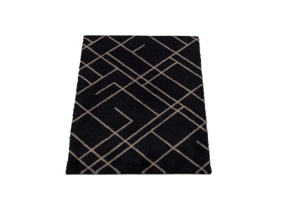 Tica - Dyramotta Lines 90x60cm Black/Sand