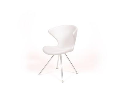 Tonon - Concept Stóll m/möttum Stálfótum White