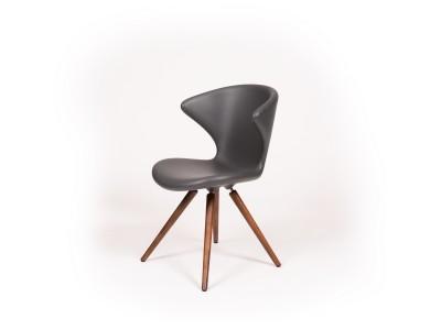 Tonon - Concept Stóll m/viðarfótum Hnota/Grey