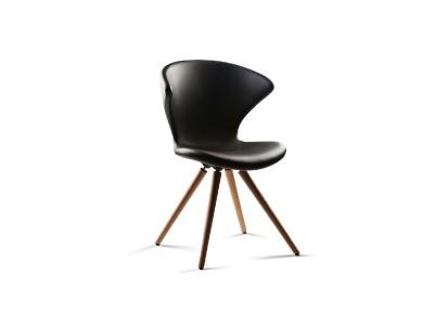 Tonon - Concept Stóll m/viðarfótum Hnota/Black