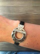 Unity armband svart og silver