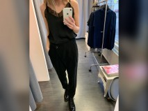 Darcy buxur svartar - fashion fit