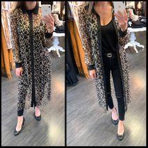 Beta leopard skyrta/kimono