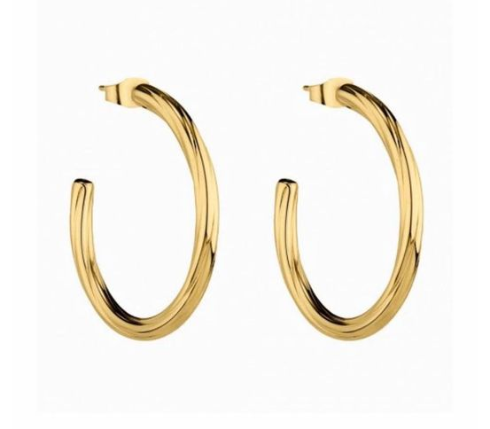 CHLOE TWIST HOOP GOLD