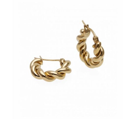 TWIST EARRING GOLD