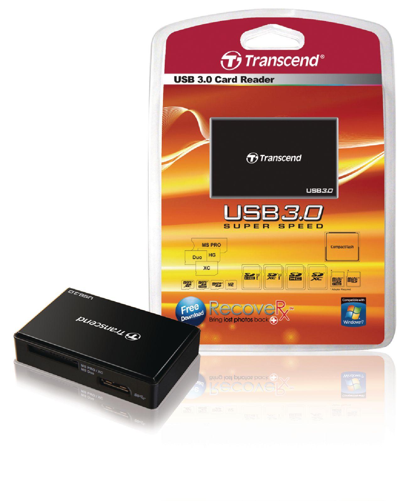 Kortalesari Transcend Usb3 Ts Rdf8k Card Reader Rdf8 White Usb 30 All In 1 Multi Backwards Compatible