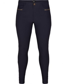 Zizzi Stretch Skinny Pants - NAVY