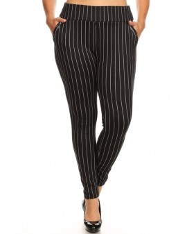 STRIPE Boss Treggings m/vösum