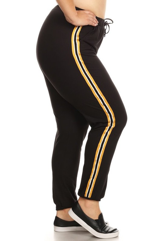 Soft joggers pants - YELLOW stripe