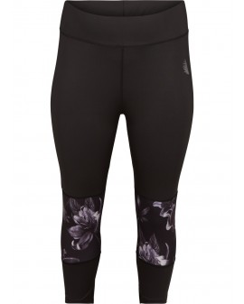 Shadow flower Cropped Leggings