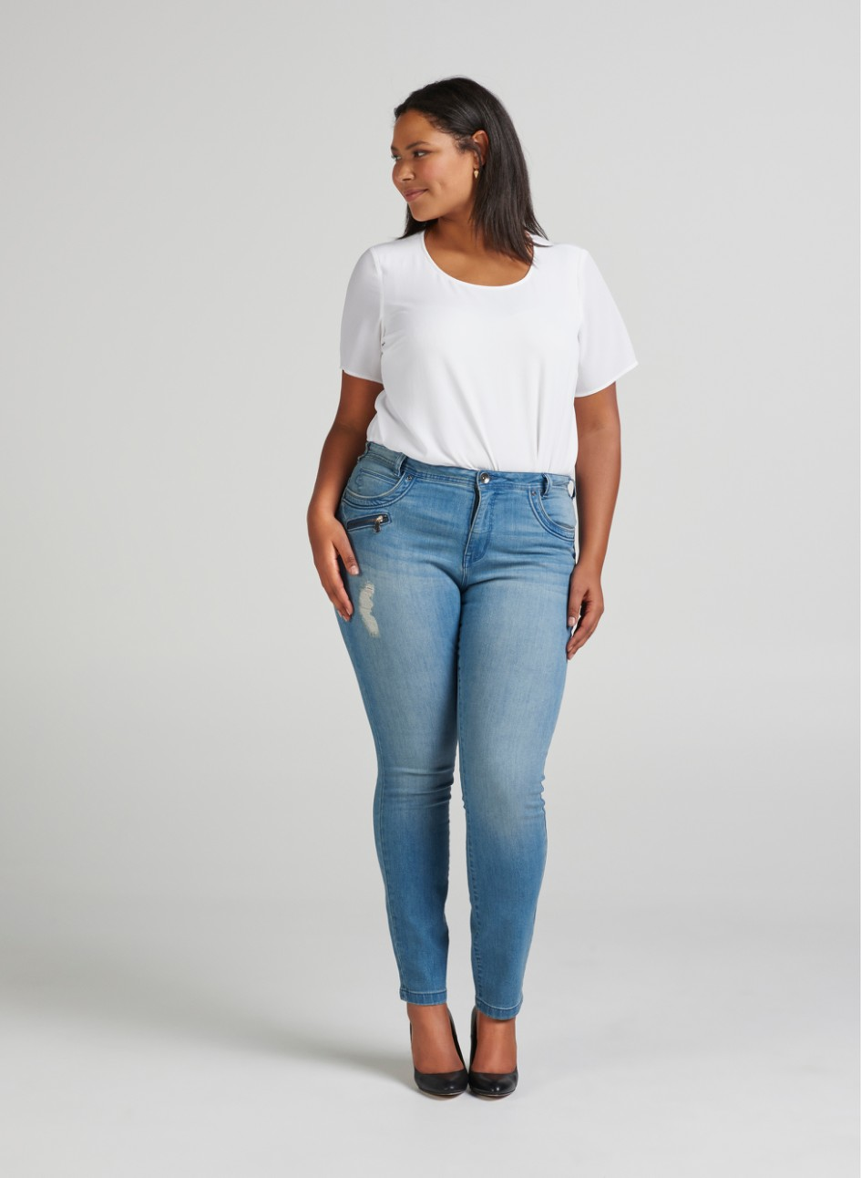 AMY JEANS - Zip style