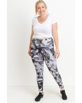 MONO Active Leggings - Munstraðar