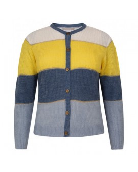 Julie Knit Cardigan - Yellow/Blue
