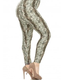 Soft leggings - Sand Snake print
